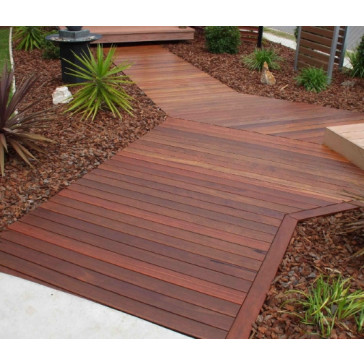 86 X 19 IRONBARK DECKING GROOVED ONLY - SUITABLE FOR DECKMATE DIY