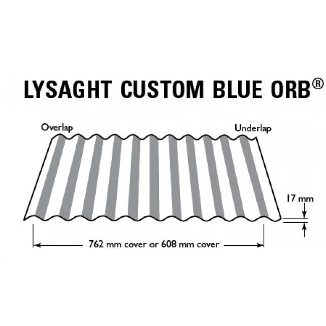 0 60 Custom Blue Orb Colorbond 762 X 17 Custom Blue Orb